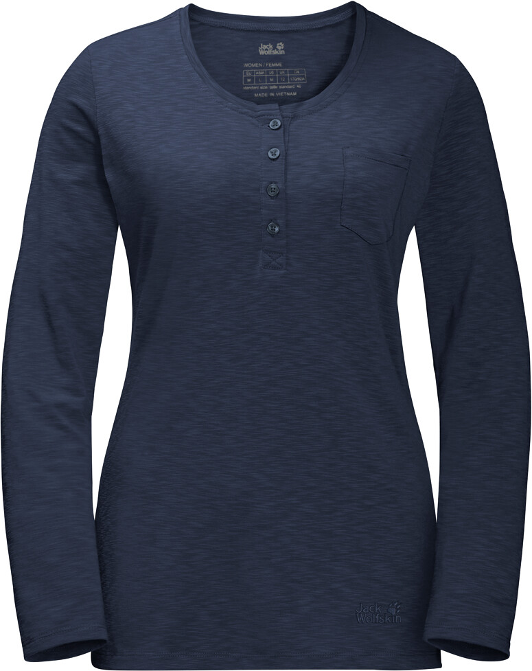 Jack Wolfskin Winter Travel Henley Damer, midnight blue